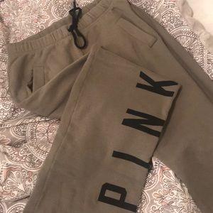 Army green VS PINK boyfriend swear pants